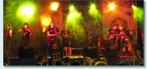 Skerryvore, rocking the Festival Intercéltico de Avilés y Comarca, 2010