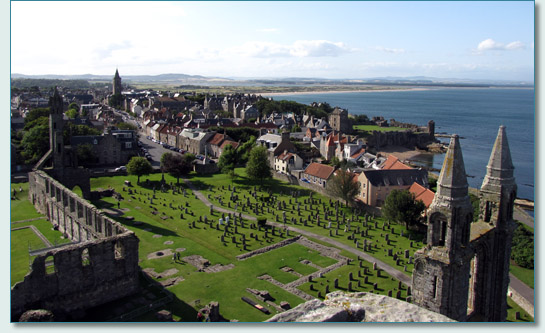 St.Andrews from the top of St.Rule's Tower