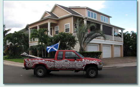 Celtic Chariot by Hamish Burgess, St.Andrew's Day 2010, Maui