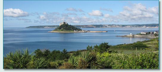 St.Michael's Mount and Mounts Bay, Cornwall