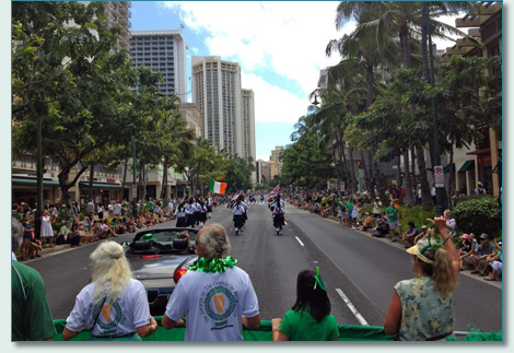 The Friends of St.Patrick Honolulu St.Patrick's Day Parade 2012
