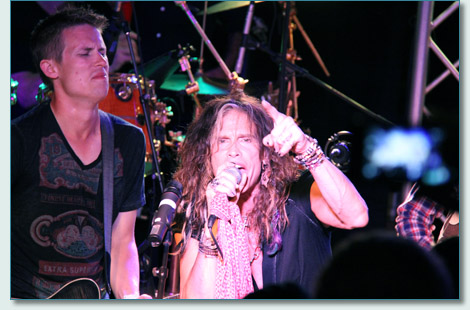 Steven Tyler at Fleetwood's on Front Street, Lahaina, Maui August 23rd 2012