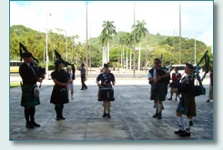 Hawaii Tartan Day Pipers at the State Capitol