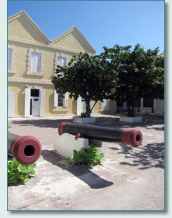 Canons outside the Government Buildings, Grand Turk, Turks and Caicos