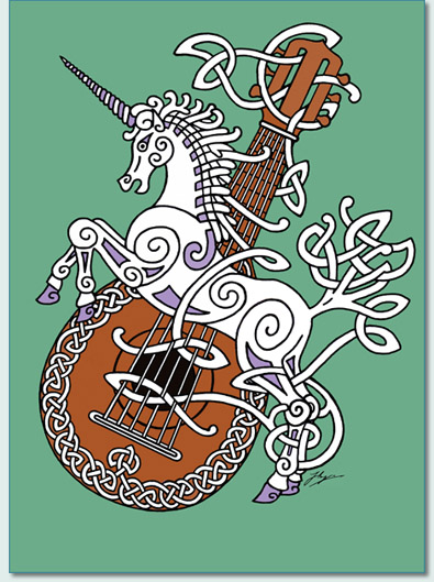 'UNICORN AND MANDOLIN' by Hamish Burgess 2010