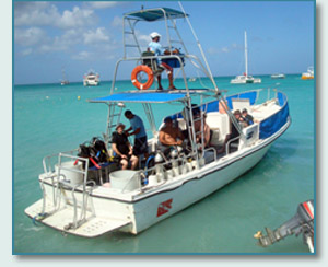 Unique Sports of Aruba dive boat