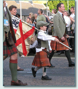 A young Bruce on The Clan Parade at The Gathering 2009, Edinburgh