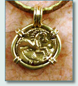 Celtic coin showing Epona, the horse Goddess